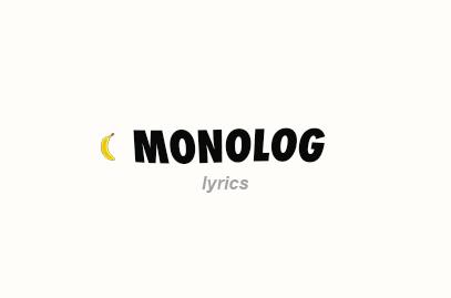 Monolog Lyrics